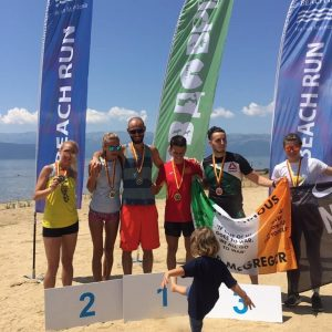КИРАЏИЕВИ со подиум и на Prespa Beach Run 2019